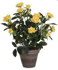 buy mica artificial rose bush yellow bakker com