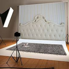 Xft White Headboards Photo Studio Background Indoor For Https - Bedroom photography studio