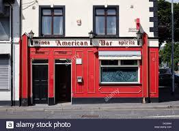 American Bar The American Bar In Sailortown Belfast Northern Ireland Uk Stock