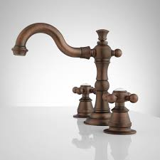 Roseanna Widespread Bathroom Faucet Metal Cross Handles Oil Antique Bronze Bathroom Fixtures