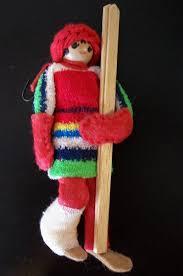 vintage skier with broken leg ornament on etsy 10 00