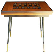 1950 1960 game table with 40 pieces french checkers board at 1stdibs