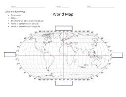 Blank World Map Worksheet by Social Studies