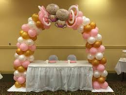 balloon arch twins pink gold white twice the glitter double