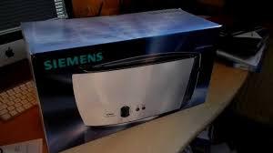 siemens porsche design toaster unboxing siemens toaster
