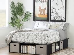 Modern White Queen Bed Platform Bed Modern White Laminated Flat Bed Frame Which Matched