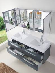 abodo 54 inch modern double sink bathroom vanity in grey finish