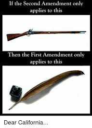 Second Amendment Meme - if the second amendment only applies to this then the first