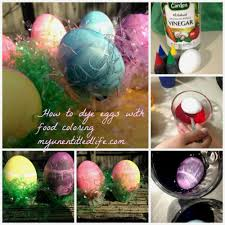 how to dye eggs using food coloring my honeys place
