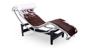 gravity chaise lounge brown white cowhide white pillow kardiel