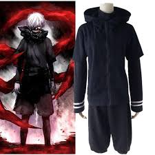 cool tokyo ghouls kaneki ken black full set clothes cosplay