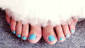 something blue wedding something blue pedicure wedding nail