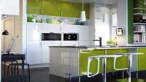kitchen very small kitchen with lime green backsplash color and