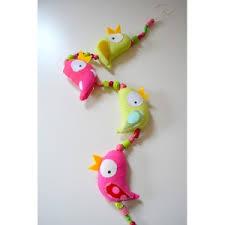 guirlande chambre enfant guirlande avec des oiseaux pour chambre bébé et enfant création