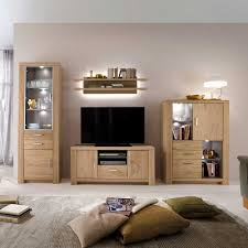 Wohnzimmer Ideen Eiche Buche Schrankwand Schrankwand Valverda In Buche Grau Modern