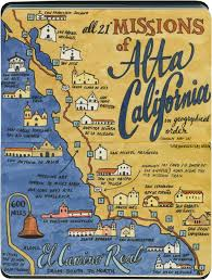 California Road Map Earlier This Year I Visited All 21 California Missions U2014and Created