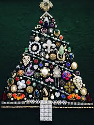 jewelry christmas tree made with a variety of new old and