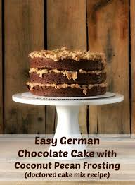 german chocolate cake rose bakes