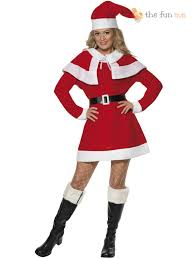mrs claus costumes miss santa mrs claus costume christmas womens fancy