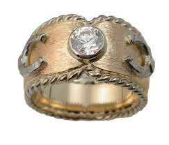 Western Wedding Rings by Custom Equestrian Engagement Rings From Designs By Loriece