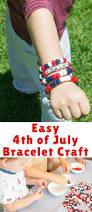 easy 4th of july bracelet craft for kids blogger bests