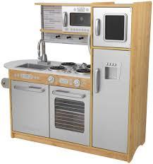 kidkraft modern espresso kitchen play kitchens for toddlers wooden kids kitchen pretend play