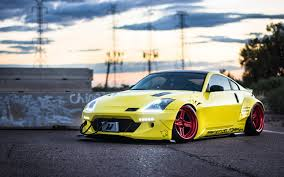 nissan 350z wallpaper wallpaper nissan 350z rocket bunny yellow automobile