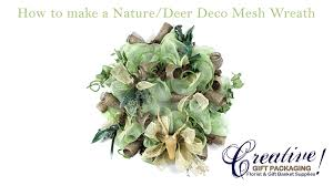 how to make a nature hunting deco mesh wreath youtube