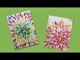 Paper Crafts For Home Decor Easy Canvas Art Beginners Kids Craft Paper Craft Home Decor