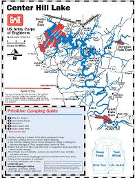 Tennessee Highway Map by Primitive Camping Site On Center Hill Lake Map Camping And