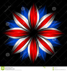 flower with british flag colors on black stock photos image