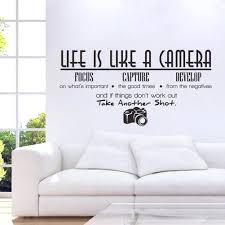 wall decor fascinating life is like a camera quote wall stickers life is like a camera quote wall stickers adesivo de parede vinyl wall stickers home decoration wallpaper diy creative bedroom wall decor bright life is