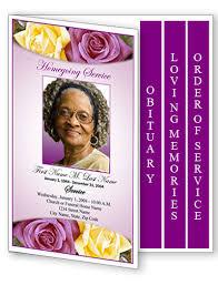 unique funeral programs funeral program template 4 page graduated purple