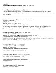 Resume Relevant Coursework E Vigil Federal Resume