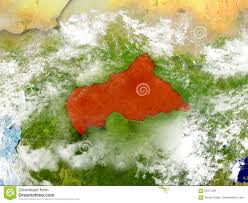Africa On Map by Central Africa On Map With Clouds Stock Illustration Image 87071361