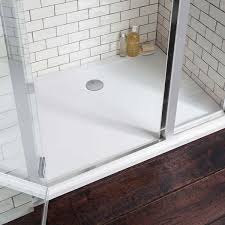 simpsons 35mm rectangular anti slip acrylic shower tray with