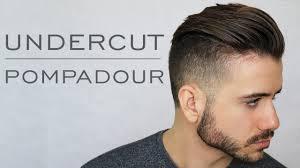 modern undercut pompadour tutorial men u0027s everyday hairstyle 2017