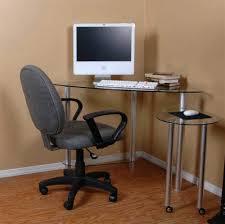 Metal Computer Desks Computer Desks C Frame Glass And Metal Corner Computer Desk Top