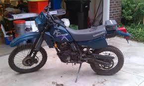 klr250 versus the grey sludge monster adventure rider