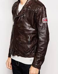 cheap biker jackets pepe jeans pepe leather jacket arcade biker vintage dip dyed in
