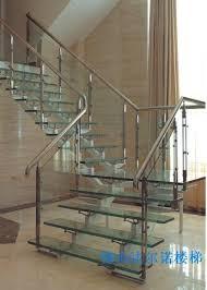 Glass Staircase Banister Modern Glass Stainless Staircases Glass Staircase Handrail