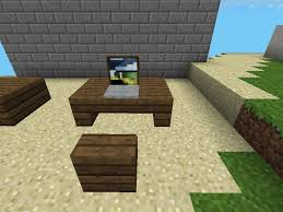 Minecraft How To Make A Furniture by Minecraft Pe Laptop And Desk Tutorial Youtube