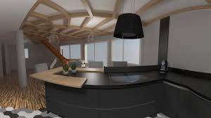cuisine bois design cuisine moderne gris anthracite et bois realite virtuelle 360 4k