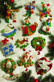 partridge in a pear tree bucilla ornament kit 12 days of christmas