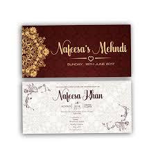 mehndi card burgundy royal muslim mehndi card light version diamond
