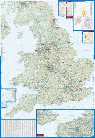 Britain Map Great Britain Borch Laminated Map