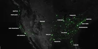 World At Night Map Pretty Map Proves Atl Has Run Amok With Tweeting Twits Curbed