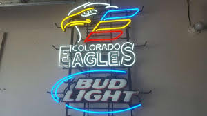 bud light neon signs for sale bud light colorado eagles hockey neon sign real neon light for sale