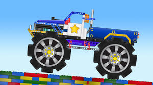 kids monster truck videos monster truck stunts lego video videos for kids youtube