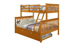 Amazoncom Twin Over Full Mission Bunk BedFixed LadderHoney - Donco bunk beds